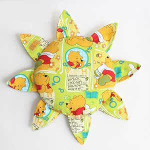 儿童布艺软飞盘 幼儿园帆布手工飞碟 太阳花 向日葵玩具 1个包邮