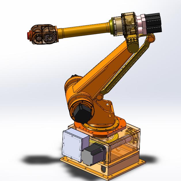 六轴自由度机械手臂 工业机器人 非标结构 3D