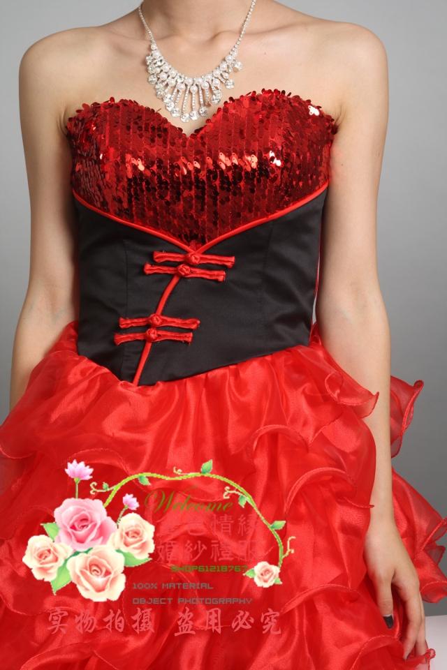 Свадебное платье Golden Love Wedding d010 2011 2011 Ткань кристалл Мини Гламурный стиль