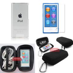 适用苹果ipod nano7保护套nano 8保护壳透明水晶壳贴膜收纳盒