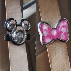 米奇汽车安全带卡片夹子 可爱卡通护肩带固定夹防滑夹松紧调节器