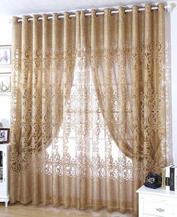 上门安装欧式镂空定制成品窗帘布料 客厅卧室隔断窗纱帘dkgt