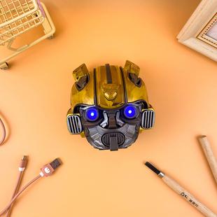 品博工作室创意钢铁侠大黄蜂蓝牙音响小型迷你无线插卡低音炮音箱