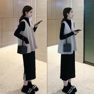 秋冬哺乳衣外出长袖连衣裙辣妈款2018产后显瘦时尚喂奶衣套装
