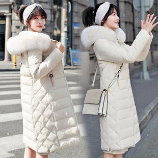 冬季棉袄女2018羽绒棉服中长款大毛领过膝保暖棉衣厚外套