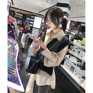 张贝贝ibell2018秋冬款马甲女宽松个性背心短款时尚马夹