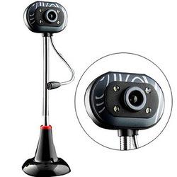 高清USB台式机电脑外置攝像頭帶麥克風話筒网吧夜视雨花石USB免驱