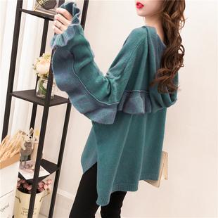 小清新甜美毛衣女套头秋冬季宽松蝙蝠袖网红ins超火的针织衫