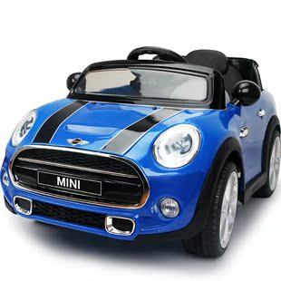 贝瑞佳儿童电动车可坐双驱越野车遥控四轮汽车宝宝婴童车宝马MINI