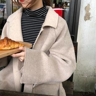 乌77 韩国 显瘦细横条纹打底衫套头高领长袖T恤tee女冬2018