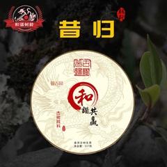 云南普洱茶叶 普洱生茶饼茶邦东昔归500普洱茶古树纯料 和谐共赢