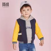 迪迪鹿男宝宝冬装外套男小童拉链衫上衣外套儿童棒球服潮