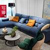 写臻轻奢羽绒沙发布艺组合现代简约北欧大小户型整装客厅三人位