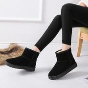 2018冬季雪地靴女靴情侣女鞋平底短筒短靴男加绒加厚保暖棉鞋