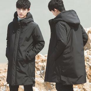 加厚2018冬季装棉衣棉服袄子男士中长款外套潮流帅气