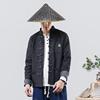 秋季中国风男装复古图腾刺绣男士牛仔夹克外套水洗做旧盘扣夹克衫