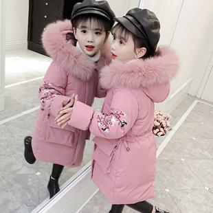 女童棉衣冬装2018儿童羽绒棉服中长款大童小女孩洋气棉袄外套