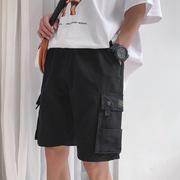 2019夏季潮流宽松五分裤工装薄款潮牌裤子百搭网红男抖音短裤