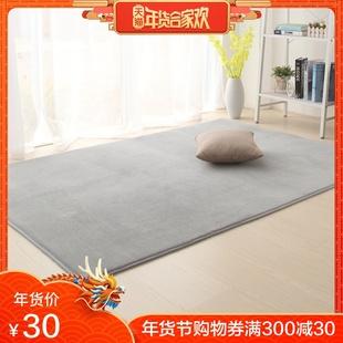 地毯卧室客厅床边长毛毯房间满铺可爱茶几毯沙发加厚地垫简约家用