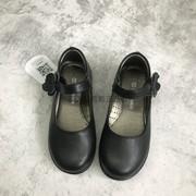 斯乃纳童鞋2020春秋款女童真皮学生黑皮鞋表演鞋X32820