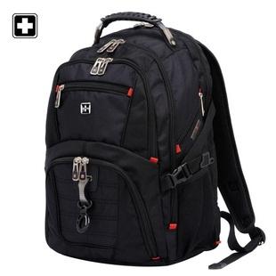 瑞士军双肩包男瑞士户外中学生书包男士大容量旅行电脑背包