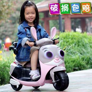 电瓶春季助步儿童车电动三轮车2岁充电可拖行一周岁小女孩usb
