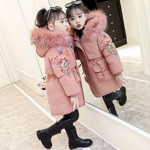 女童羽绒棉衣2018中大童加厚儿童冬装棉服袄外套女孩童装