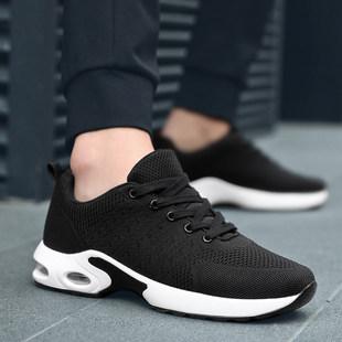 夏季飞织男士软底健力运动网面跑步单鞋防臭透气性男款板鞋新