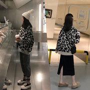 大码女装2018秋冬装微胖妹妹毛衣减龄洋气显瘦套装裙子两件套