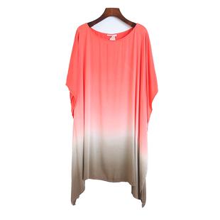 外贸夏季宽松中长款蝙蝠袖不规则短袖T恤女韩版洋气体恤衫上衣潮