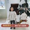 允儿妈女童秋冬碎花衬衫连衣裙套装儿童宝宝秋季长袖衬衫裙子