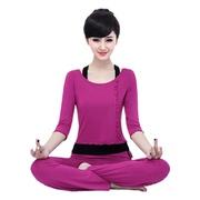 韩国时尚跑步健身运动服三件套显瘦女加厚瑜伽服套装纯棉