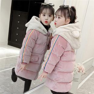 女童冬装棉服2018儿童冬季加厚外套洋气童装袄女宝宝棉衣
