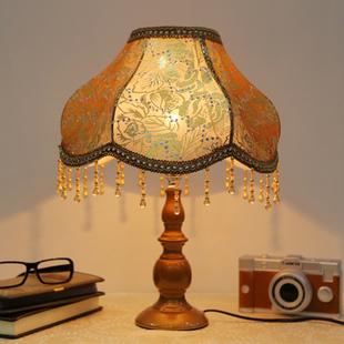 欧式简约LED书房客厅卧室床头灯 时尚水晶创意装饰节能台灯调光