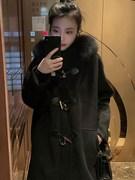 安那家ANMA羊绒大衣洋气牛角扣双面呢大衣初冬毛呢外套女中长款