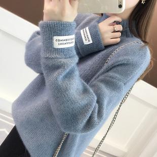 高领毛衣女2019春装宽松很仙的洋气百搭加厚打底针织衫夏