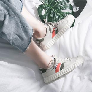 网红鞋子2019女帆布鞋潮鞋学生百搭ulzzang小白板鞋夏款