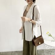 LB2218春夏装宽松七分袖中长款雪纺薄西装外套女ol76 X