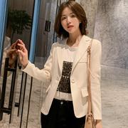 小西装外套女2021春秋女士小西服长袖韩版修身显瘦短款外套潮