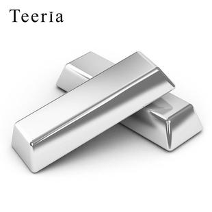 银条9999纯银银珠投资足银银块999碎银砖收藏原料毛料白银料