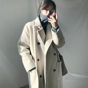 毛呢外套女大衣中长款2018流行秋冬季赫本风加厚呢子学生