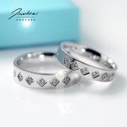 情侣戒指 女日韩潮人简约925银韩国食指指环创意对戒饰品