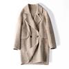 2019春季双面羊绒大衣女短款圈圈绒直筒版显瘦流行