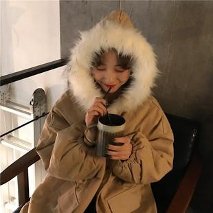 冬季面包棉服女2018加厚宽松中长款学生棉衣oversize外套