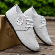 豆豆鞋男懒人一脚蹬男士百搭休闲软底开车鞋韩版潮流夏季透气布鞋