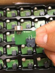 进口镀金高灵敏度话筒咪头拉菲娱乐 mic拾音器 放大板模块电路板