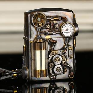 打火机zippo正版纯铜蒸汽朋克芝宝煤油收藏级男士送礼物限量