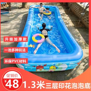 儿童充气游泳池家用加厚成人超大号婴儿家庭戏水池小孩宝宝游泳桶