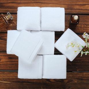 白色小方巾全棉酒店餐饮厨房幼儿园KTV专用纯棉擦手四方毛巾批發