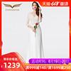 创意狐2019白色蕾丝晚礼服宴会礼服长款显瘦婚纱礼服新娘